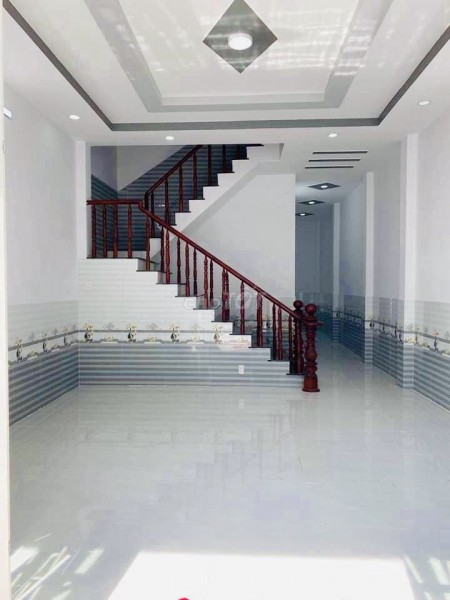 Bán nhà rộng 60m2, chưa có nội thất, kiến trúc đẹp, Đoàn Nguyễn Tuấn, Bình Chánh, 60m2, 2 phòng ngủ, 2 toilet
