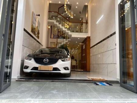 Chủ bán nhà hẻm yên tĩnh, kiến trúc đẹp, 1 trệt, 3 lầu, giá 4.6 tỷ, đường Nguyễn Oanh, Quận Gò Vấp, 75m2, 4 phòng ngủ, 5 toilet