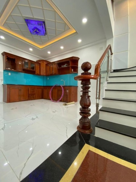 Nhà rộng 54m2, 4 tầng, sân thượng trước sau, giá thoả thuận, kiến trúc châu Âu, mt An Dương Vương, Bình Tân, 54m2, ,